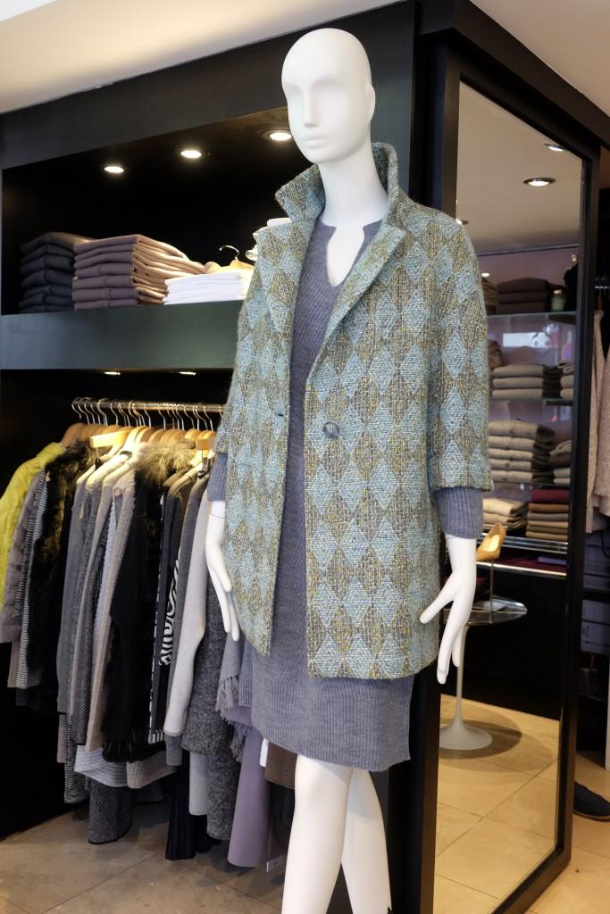Oversize Jacke in mint von Semione, Elena Düsseldorf, Lieblingsstil