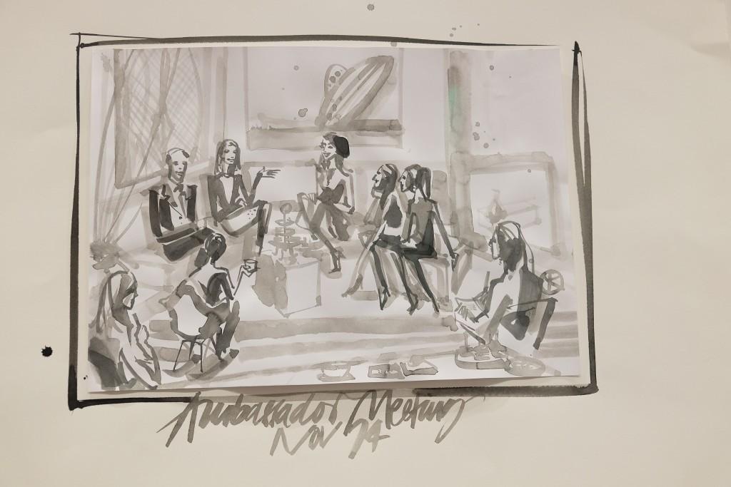 Zeichnung Dorothee Schumacher, Ambassador Meeting, Lieblingsstil