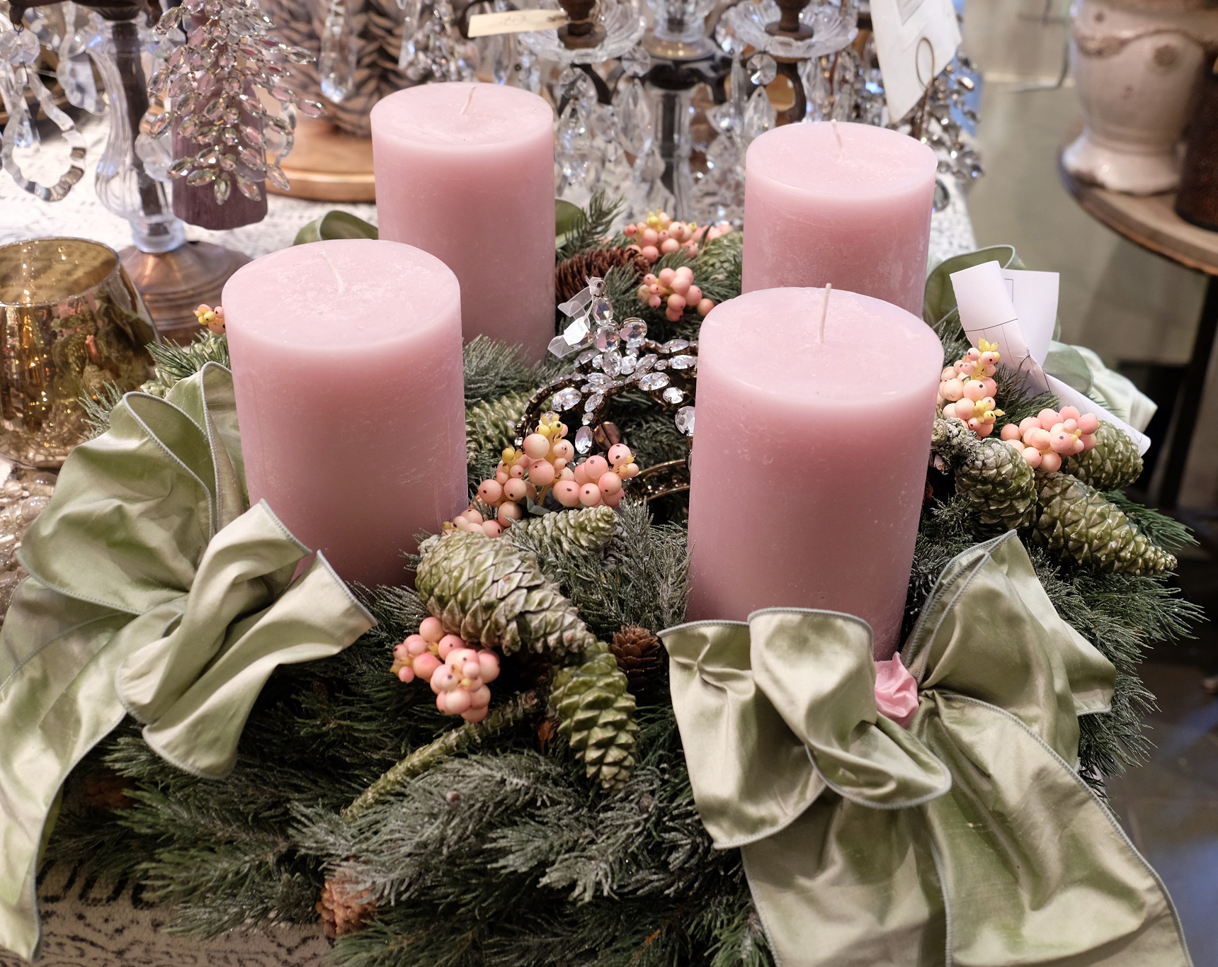 christmas decoration advent wreath by blumen bergine. Black Bedroom Furniture Sets. Home Design Ideas
