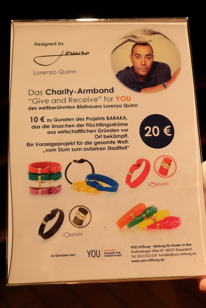 Lorenzo Quinn, Charity Armband, Baraka Projekt, Stiftung Bildung für Kinder in Not, Lifestyle Blog Lieblingsstil, Modeblog Lieblingsstil