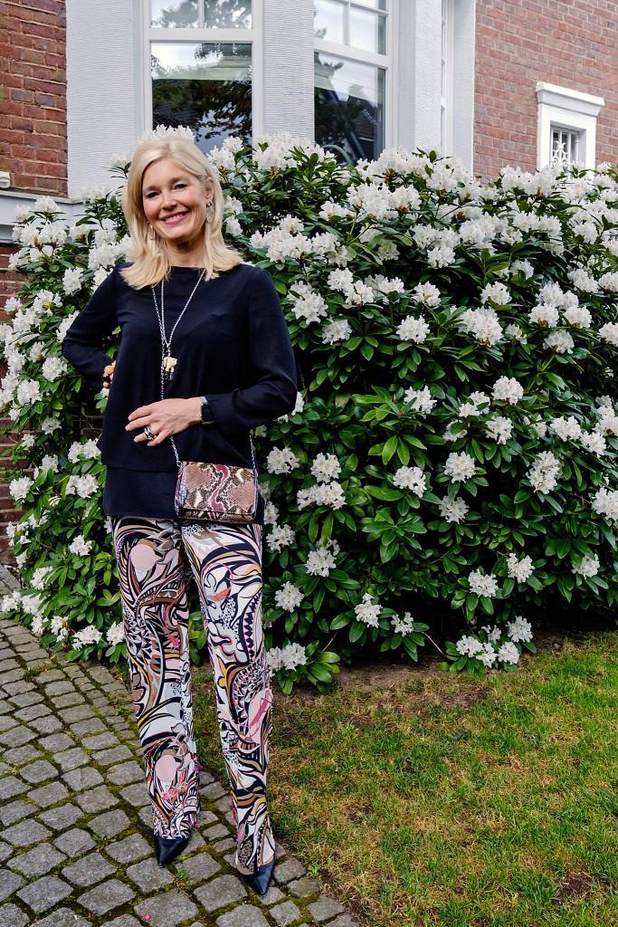 Pucci, gemusterte Hose, Jersey Hose, Abendoutfit, Abend Look, evening look, evening style, Modeblog, Fashion Blog, Fashionblog, Lieblingsstil,1