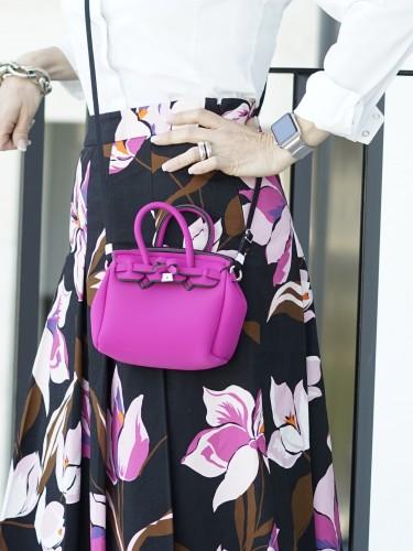 Savemybag.it, Mini Icon, Modeblog, Fashionblog, Fashion Blog, Lifestyle Blog, Lieblingsstil, Tasche pink, Tasche violett, Tasche orange, Tasche rosa