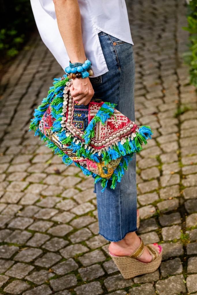 Bluse Lieblingsstil, Oversize Bluse, 7 for all mankind, Kreativ Jeans, Hippie Clutch, a cuckoo moment wedges, Modeblog, Fashion Blog, Modeblogger, Lieblingsstil