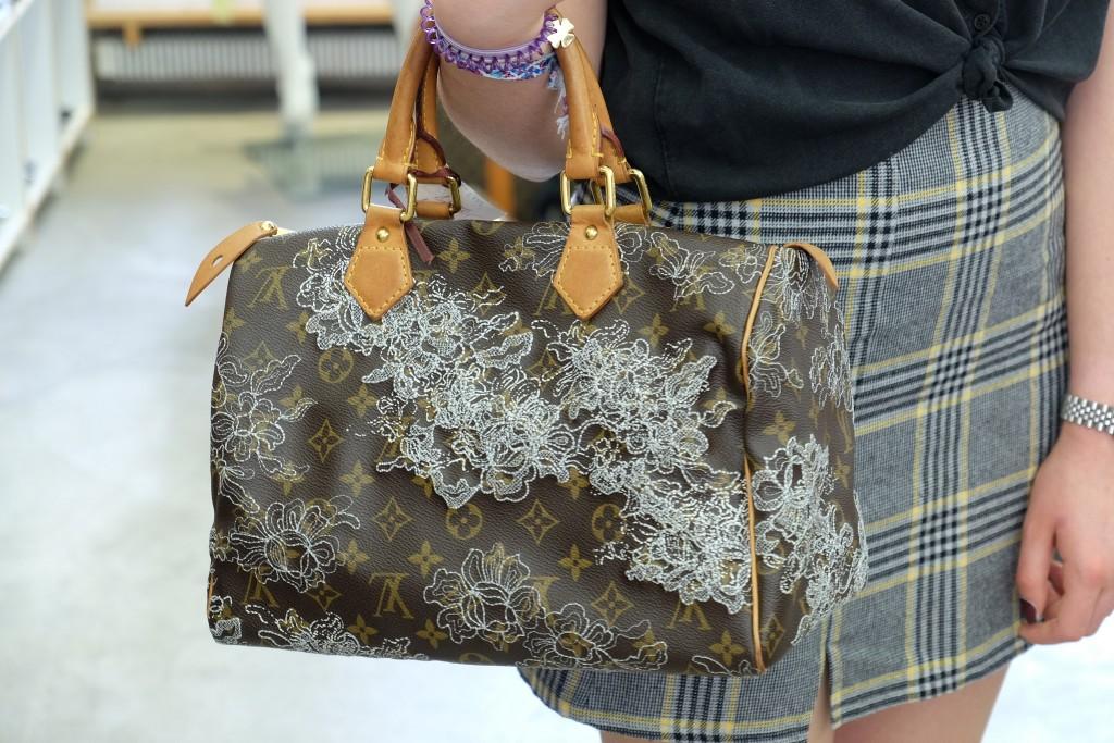 Fluxus Düsseldorf, Vintage Second Hand, Marianne Rogalli, Modeblogger, Fashionblogger, Modeblog, Fashion Blog, Louis Vuitton Tasche Blumen, Lieblingsstil