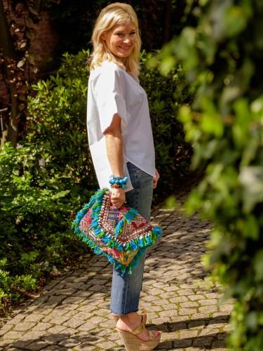 Sommerlook, Hippie Tasche, Fransenjeans, Modeblogger, Fashionblogger, Lieblingsstil