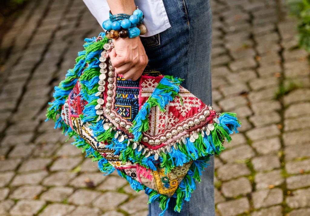 Clutch, Sommerclutch, das wichtigste Accessoires des Sommers, Unterarmtasche türkis, Unterarntasche bunt, Lieblingsstil