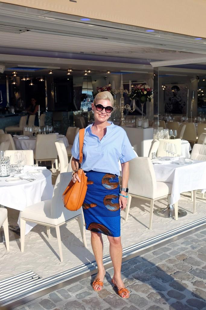 Lieblingsstil collection, skirt blau orange, Oversizebluse hellblau, Rock blau orange, Oversize blouse light blue, fashionblog, Modeblog, Lieblingsstil,1