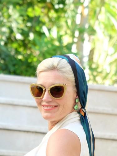 Haarband, Haartuch, Tuchfrisur, Sommerfrisur, St. Tropez Style, Saint Tropez Style, Fashionblog, Modeblog,Lieblingsstil