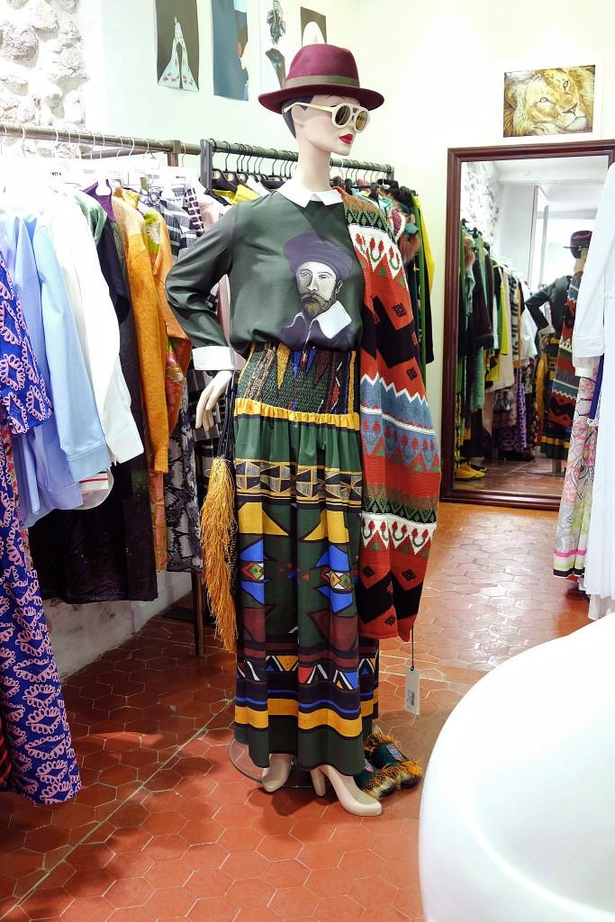 Lange Röcke, langer Rock mit Bluse, long skirt, langer Rock, long skirt with blouse, Marie Bach St. Tropez,1