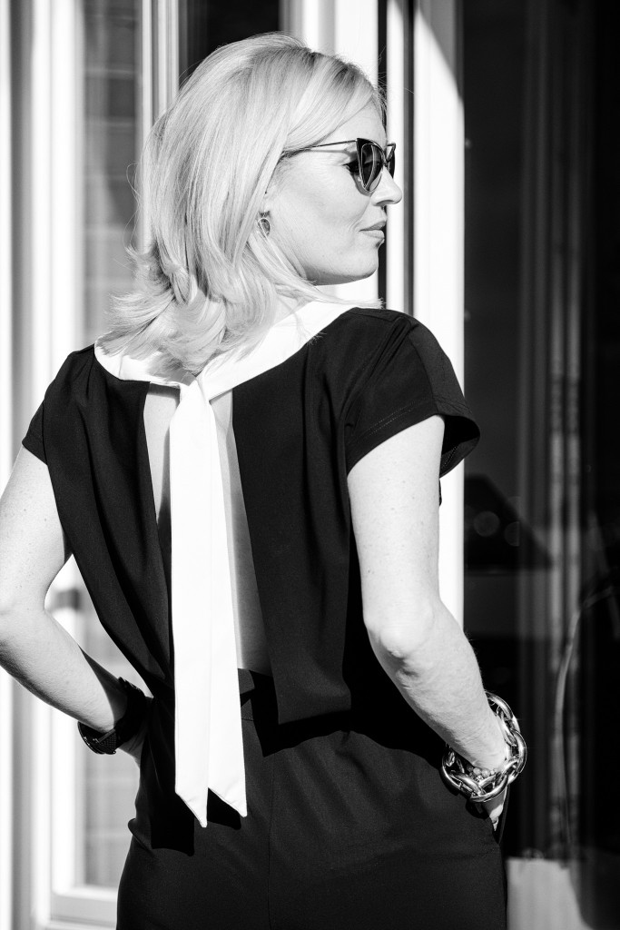 Minx Mode, Jumpsuit Minx, eleganter Jumpsuit, raffinierter Jumpsuit, Jumpsuit schwarz weiß, Deutsche Modedesigner, DMD, Fashionblog, Lieblingsstil.com