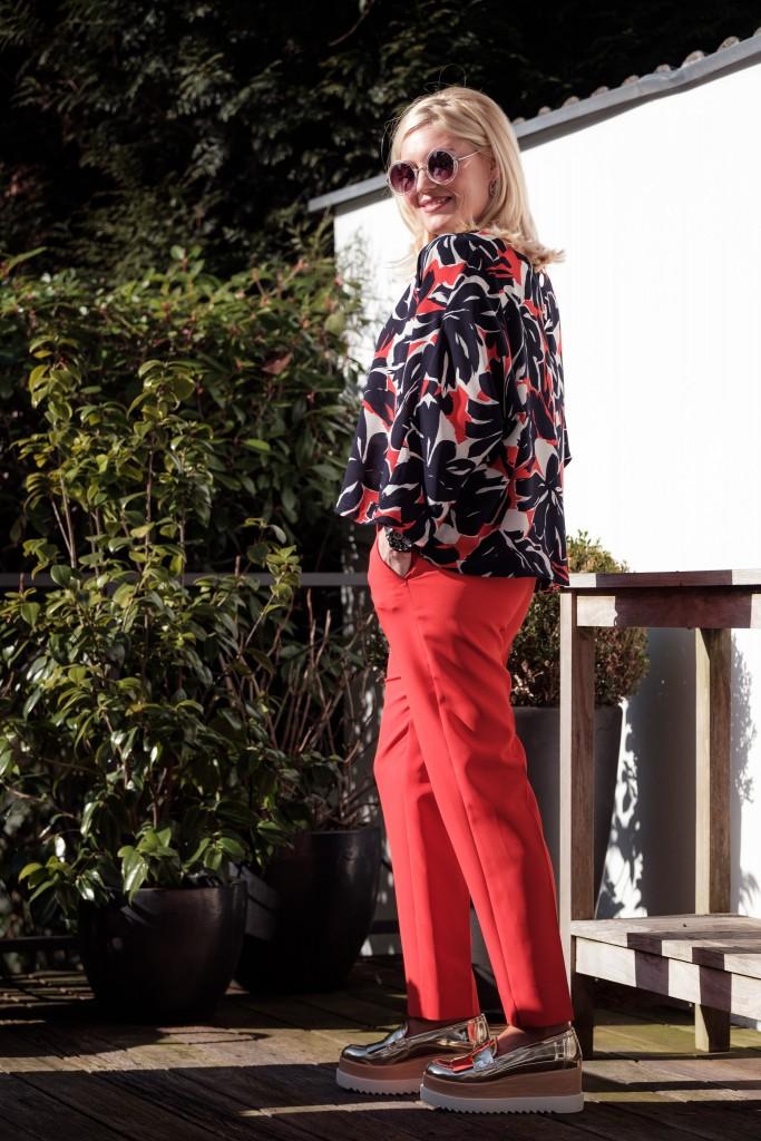 SemPerLei Oversize Bluse, SemPerLei Hose rot, SemPerLei Outfit, Sem Per Lei Breuninger, Fashion Blog Lieblingsstil, Lieblingsstil.com,