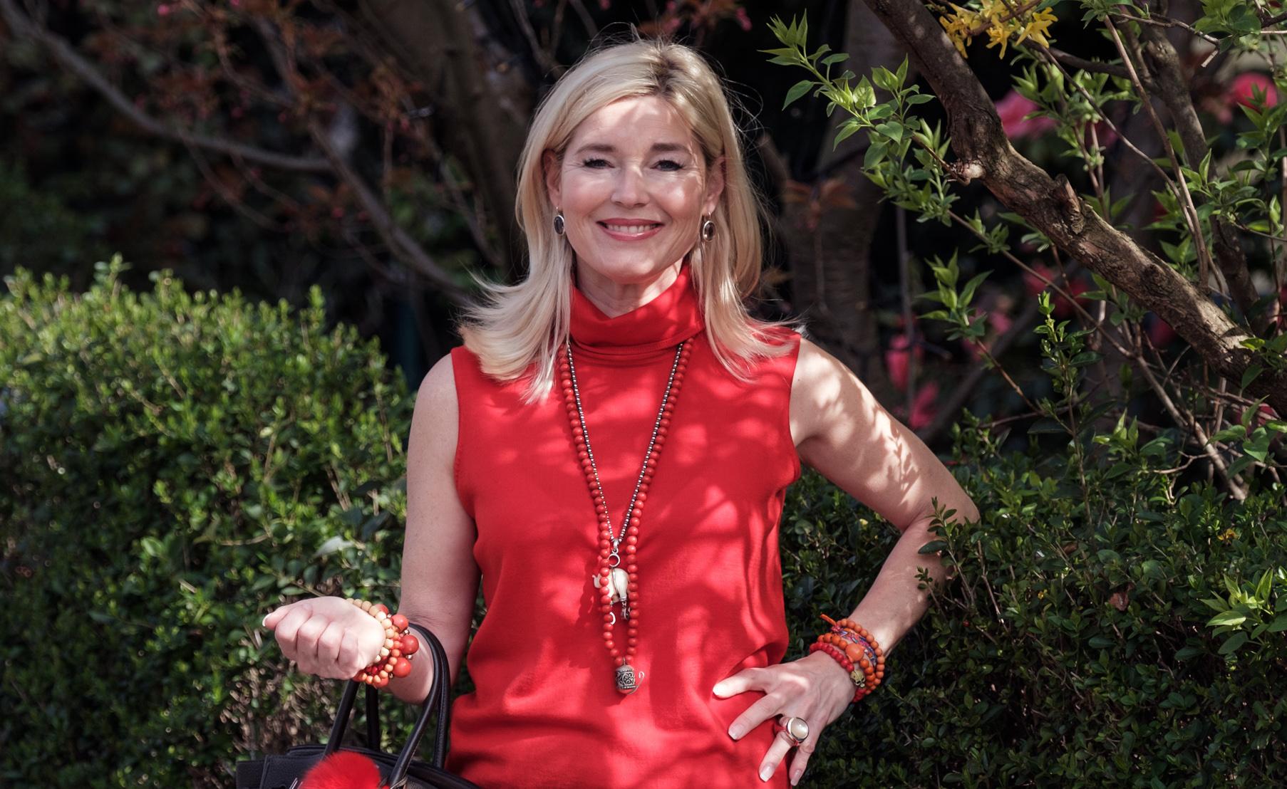 Anni Carlsson Look, Anni Carlsson Oberteil, roter Rolli, Fashion-Blog, Lieblingsstil.com