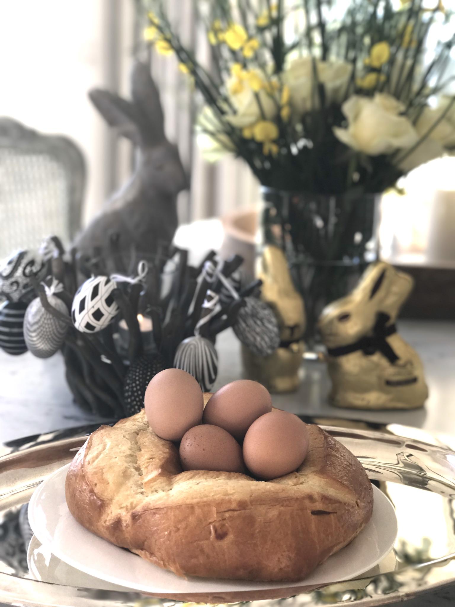 Osternest, Osterzopf mit Eiern, Osterstuten mit Eiern, Lifestyle Blog, Lieblingsstil.com,