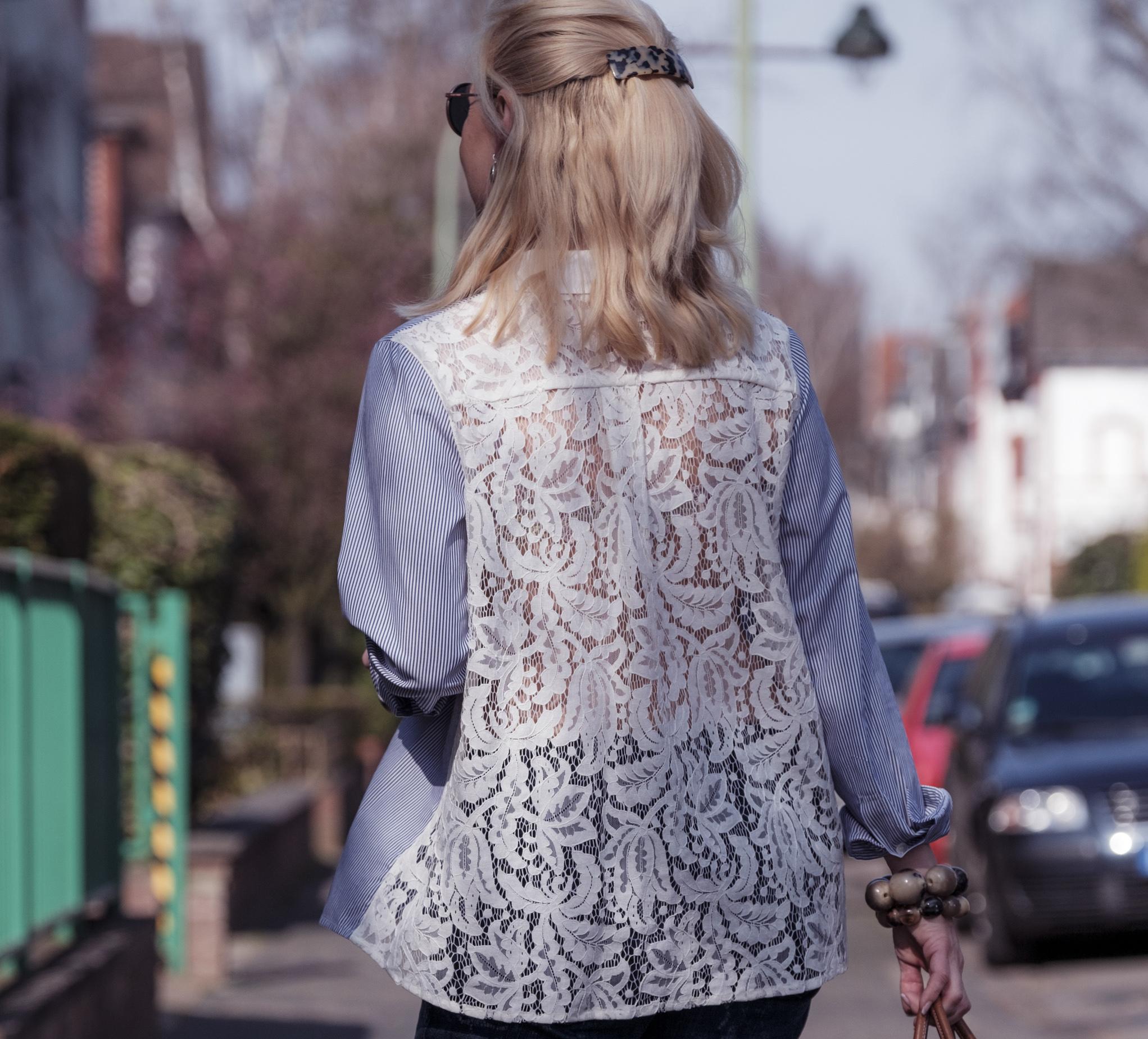 Sem Per Lei fashion, Sem Per Lei Mode, SemPerLei Mode, Bluse mit Spitze, Fashion-Blog, Lieblingsstil.com,