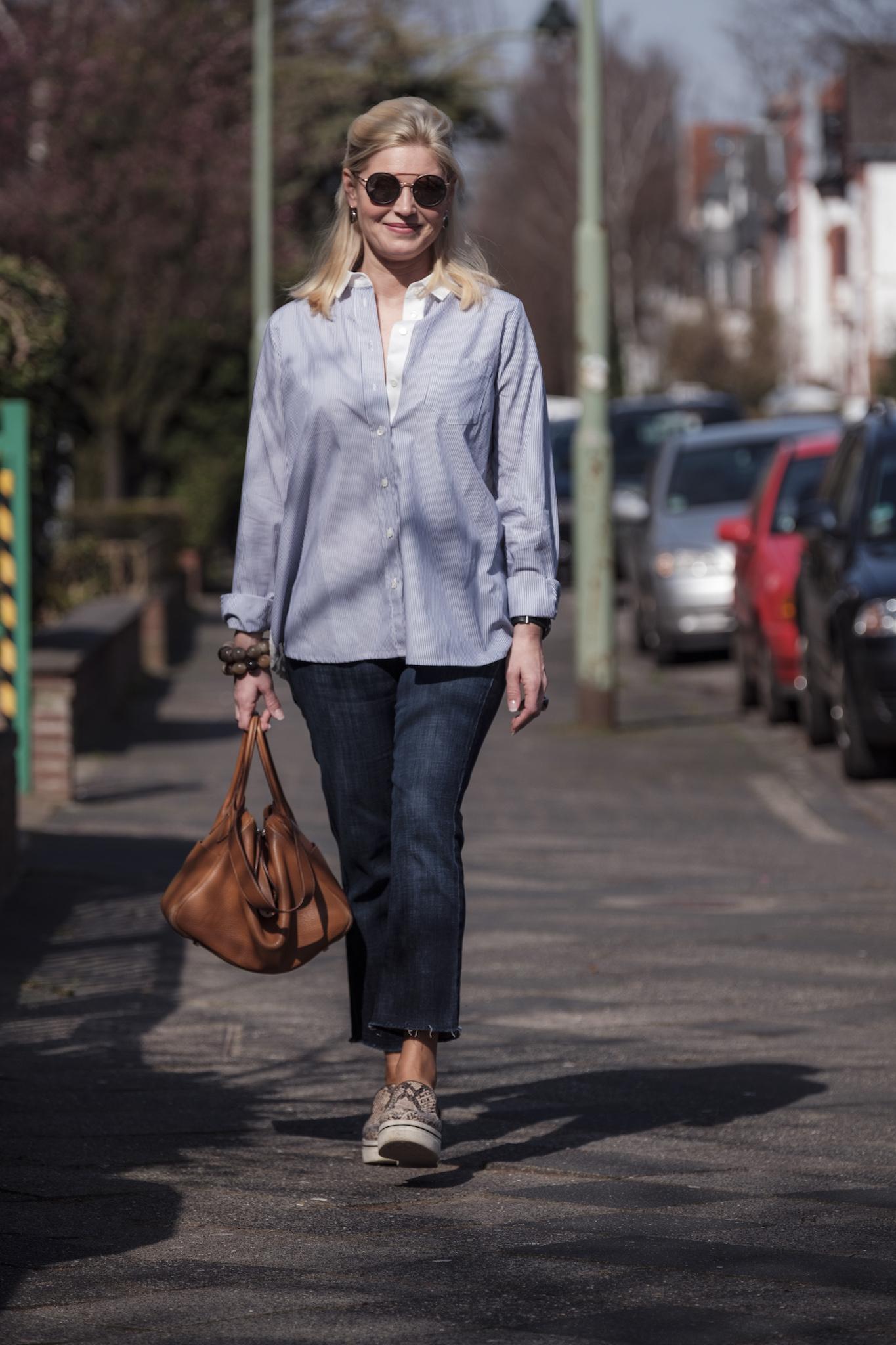 Sem Per Lei fashion , SemPerLei Mode, Fashion-Blog Lieblingsstil, gestreifte Bluse blau weiß mit Spitze, Fashion-Blog, Lieblingsstil.com,3