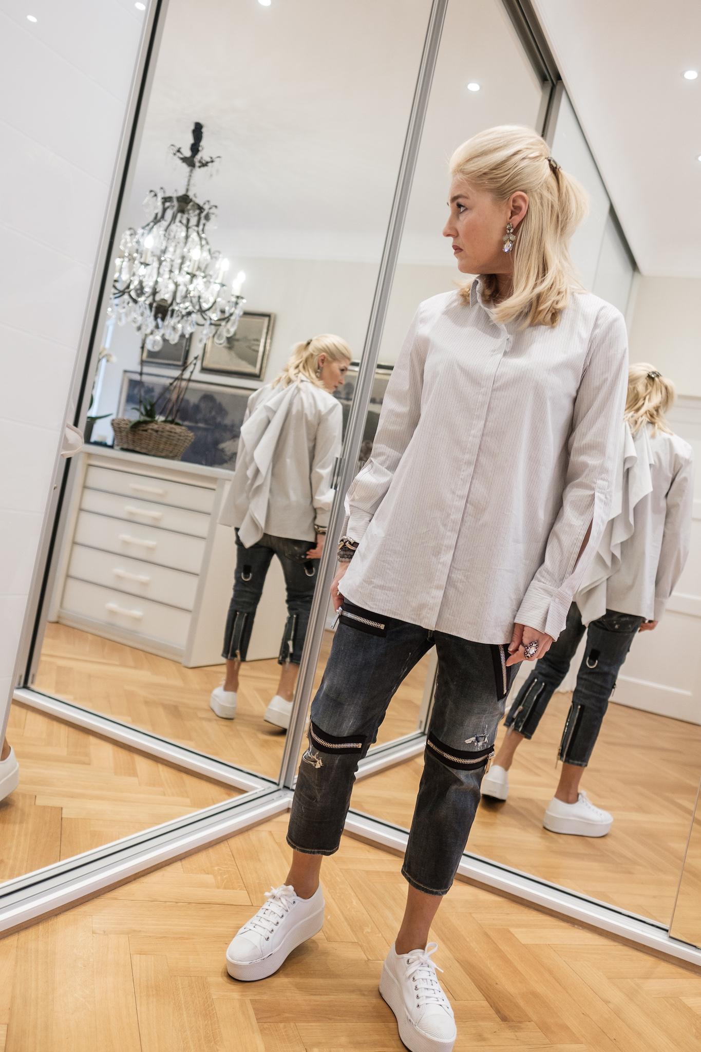 Dorothee Schumacher Hemd gestreift, Dorothee Schumacher Bluse gestreift, Fashion-Blog, Lieblingsstil.com,
