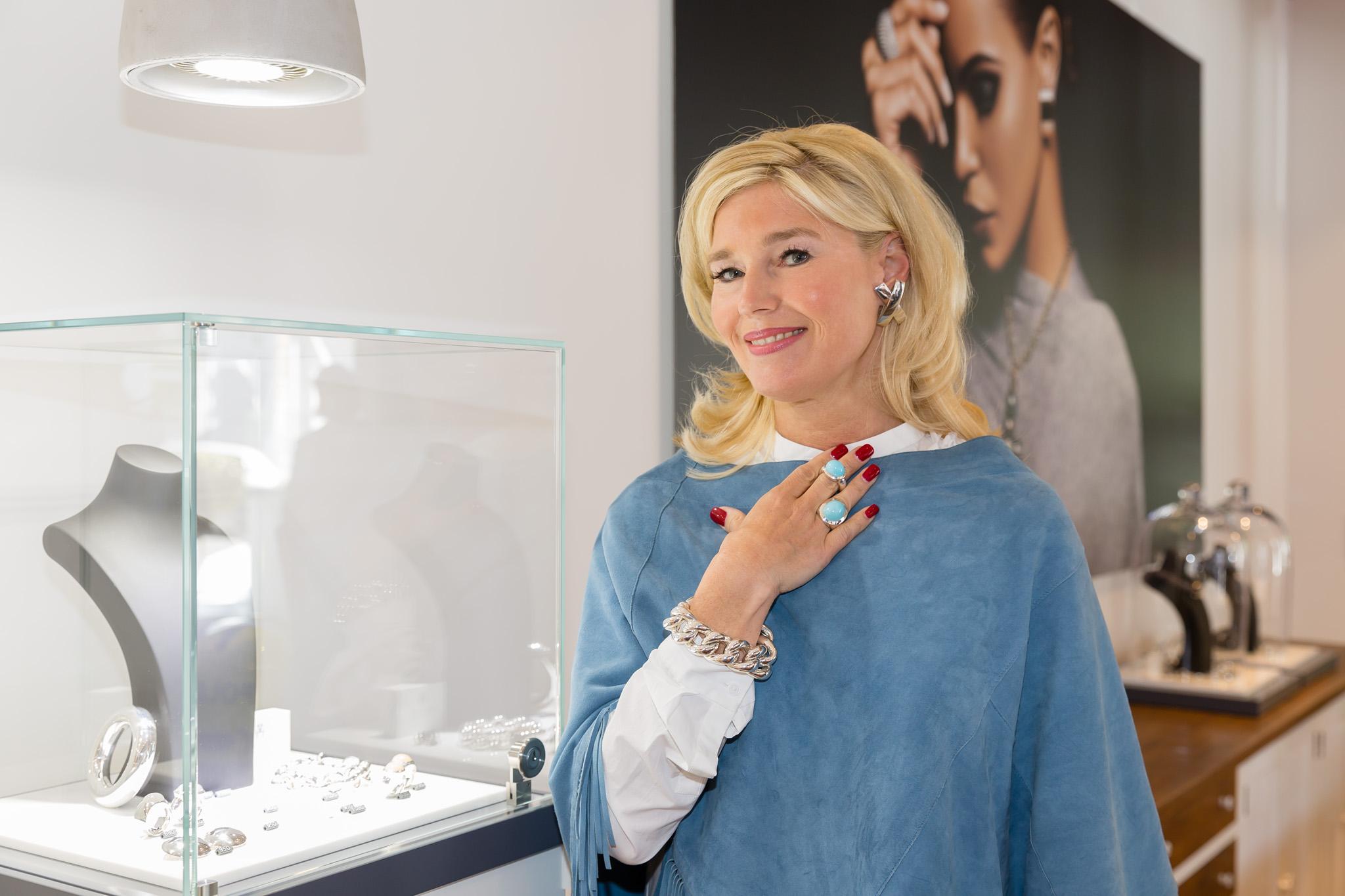 Silberschmuck mit türkis, Panzerarmband silber groß, Silberohrclips groß, toller Silberschmuck, Fashion-Blog, Lieblingsstil.com,