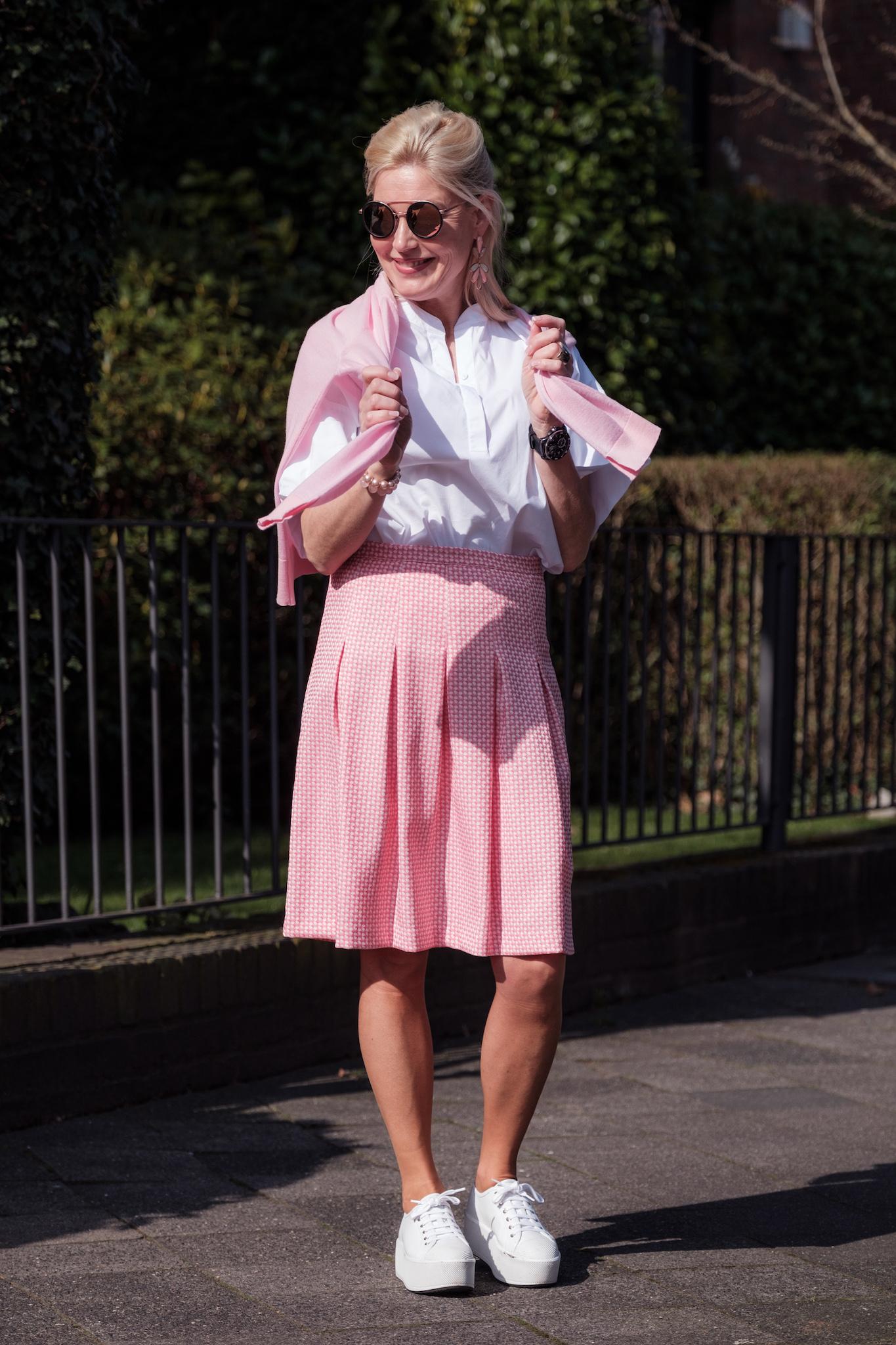 Faltenrock rosa, rosa Faltenrock, Sem Per Lei Faltenrock, SemPerLei, Fashion-Blog, Lieblingsstil.com,
