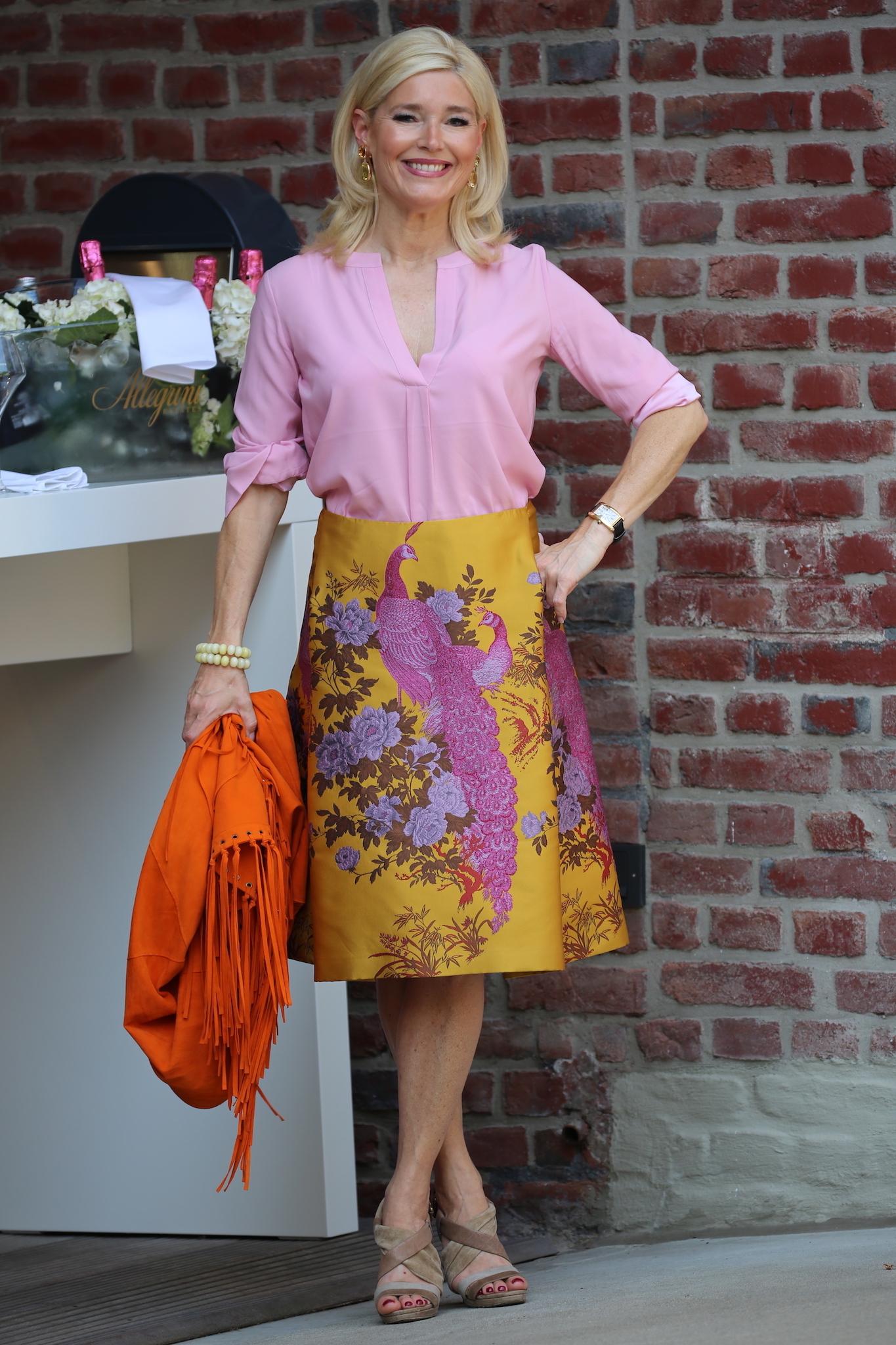 Petra Dieners, I & I Beautiful Dresses, Zingaro Ledercape, Herzstück Seidenbluse, Fashion-Blog, Lieblingsstil.com,