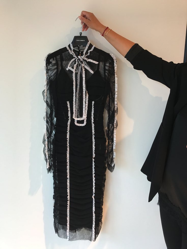Dolce & Gabbana transparentes Kleid mit Schluppe, transparentes Kleid Dolce & Gabanna, Breuniger Designerabteilung, Fashion-Blog, Lieblingsstil.com,