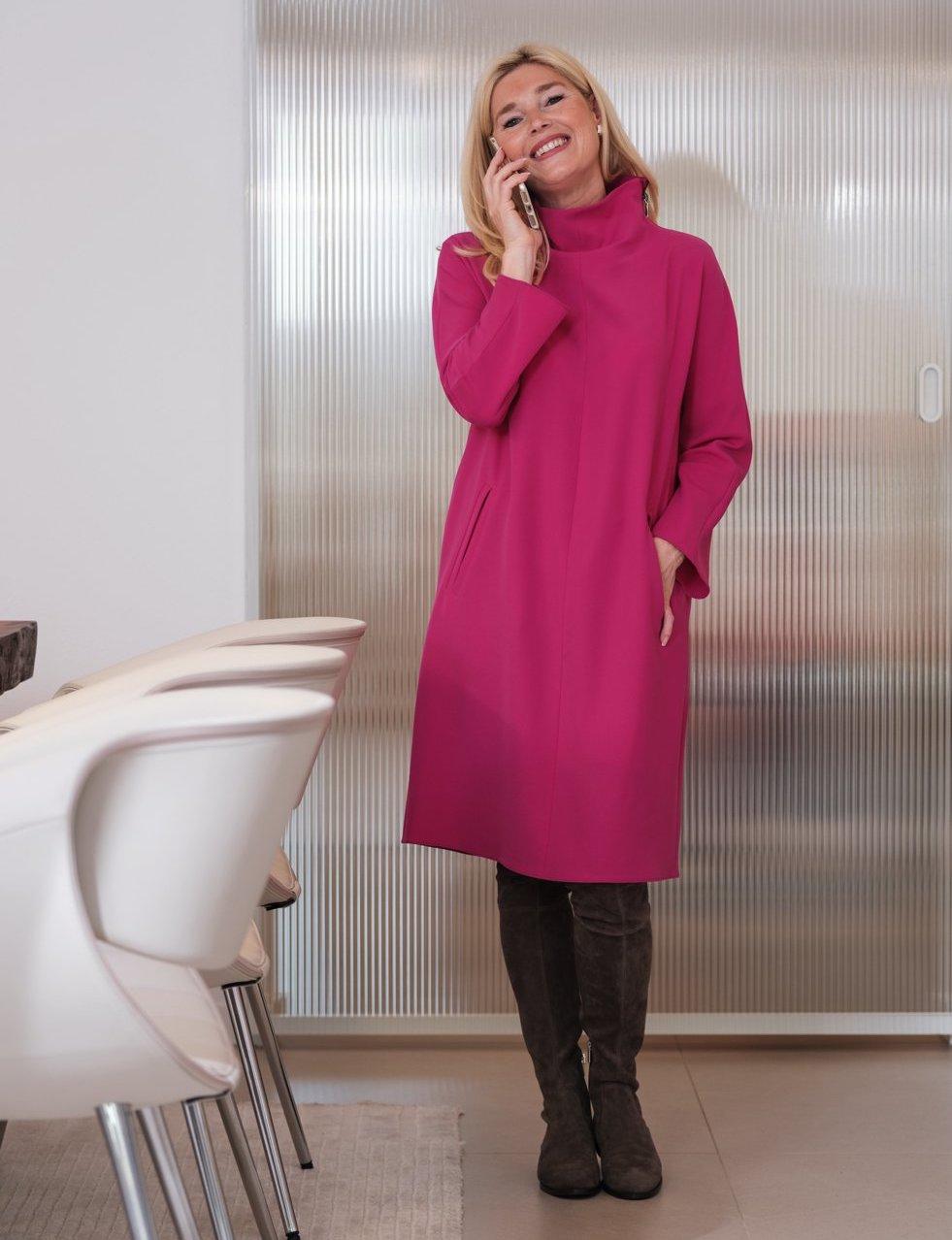 Armani Kleid pink, Kleid pink lässig, Winterkleid pink Armani, Hetkamp Mode, Hetkamp Raesfeld, Fashion-Blog, Lieblingsstil.com,