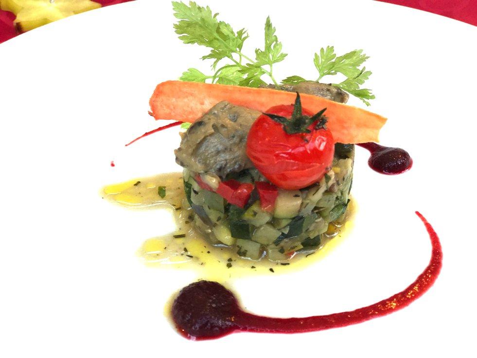 Ratatouille mit Minze, Ratatouille menthe, Le Micocoulier Gassin, empfehlenswertews Restaurant Gassin, Lifestyle-Blog, Lieblingsstil.com,