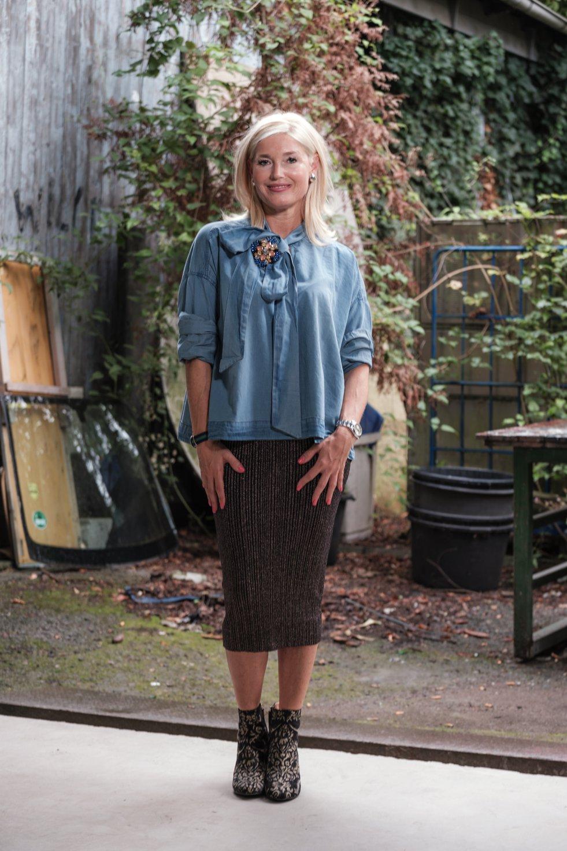 My-Fitch.com, Essentiel Antwerp, Jeanshemd mit Schluppe, Jeansbluse mit Schluppe, Jeans Schluppenbluse, Fashion-Blog, Lieblingsstil.com,