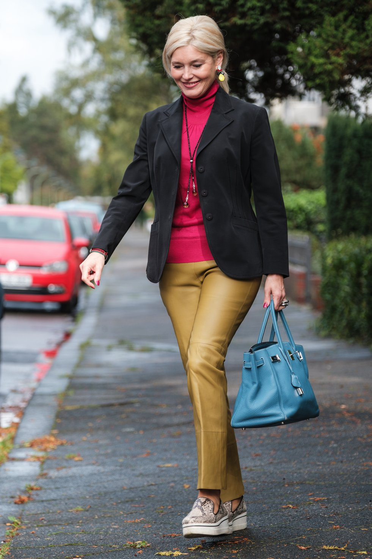 Farbspiel im Herbst, Dorothee Schumacher Lederhose, Fashion-Blog, Lieblingsstil.com,