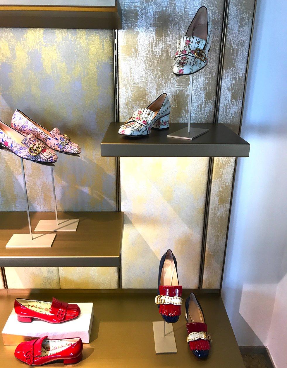 Gucci Loafer Blumen, Fondaco dei Tedeschi shoe department, Fondaco dei Tedeschi Schuhabteilung, Fashion-Blog, Lieblingsstil.com,