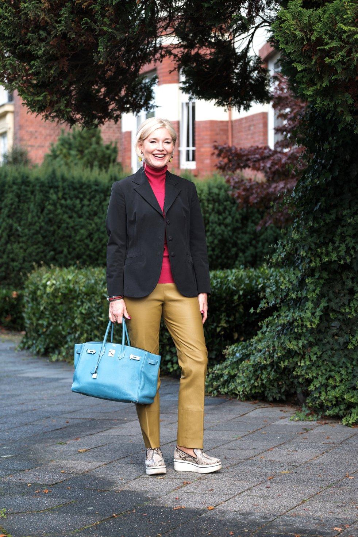 Kontraste in der Mode, Farbkombination Kiwi pink schwarz blau, neue Farbkombinationen, Petra Dieners, Fashion-Blog, Lieblingsstil.com,