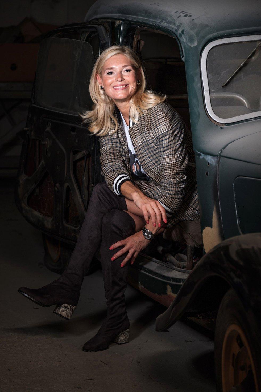 My Style, karierter Blouson mit passendem Rock von Maje, Cuplé Overkenn Stiefel grau, Fashion-Blog, Lieblingsstil.com,
