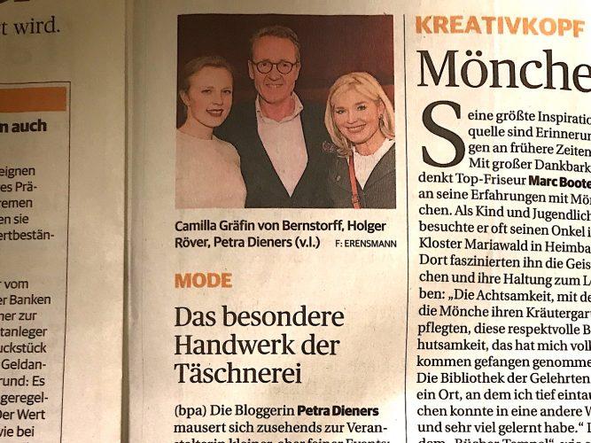Rheinische Post Das besondere Handwerk der Täschnerei., Lifestyle-Blog, Lieblingsstil.com